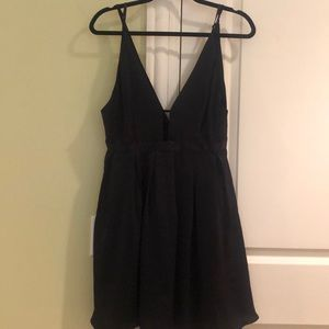 Free People silky black dress